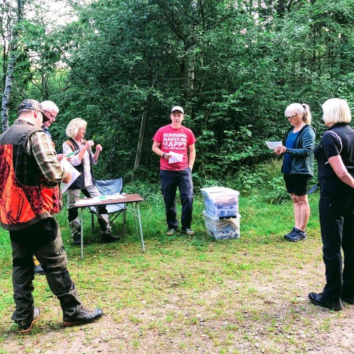 Delar av provarrangörerna i Fogdaröd. Bild: Eva Björk.
